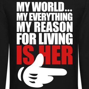 My World Is Her - Crewneck Sweatshirt