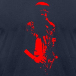 Saxophonist Artwork T-Shirts - Men's T-Shirt by American Apparel