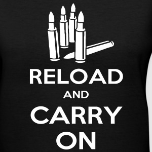 Reload and Carry On Women's T-Shirts - Women's V-Neck T-Shirt
