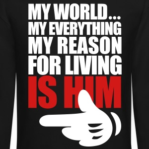 My World Is Him - Crewneck Sweatshirt