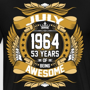 July 1964 53 Years Of Being Awesome T-Shirts - Men's Premium T-Shirt