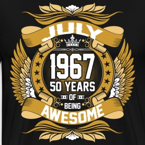 July 1967 50 Years Of Being Awesome T-Shirts - Men's Premium T-Shirt