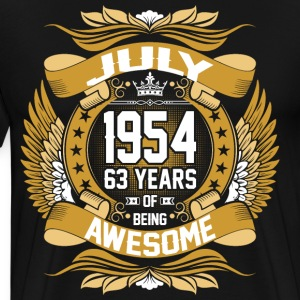 July 1954 63 Years Of Being Awesome T-Shirts - Men's Premium T-Shirt