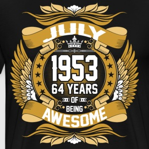 July 1953 64 Years Of Being Awesome T-Shirts - Men's Premium T-Shirt