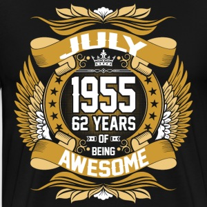 July 1955 62 Years Of Being Awesome T-Shirts - Men's Premium T-Shirt