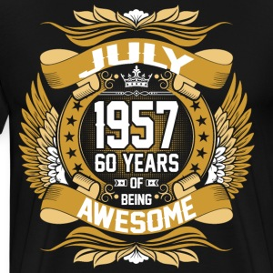 July 1957 60 Years Of Being Awesome T-Shirts - Men's Premium T-Shirt