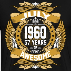 July 1960 57 Years Of Being Awesome T-Shirts - Men's Premium T-Shirt