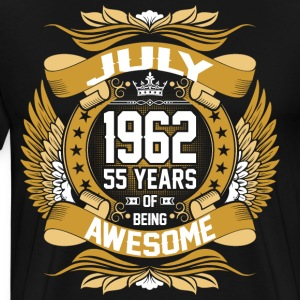 July 1962 55 Years Of Being Awesome T-Shirts - Men's Premium T-Shirt