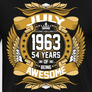July 1963 54 Years Of Being Awesome T-Shirts - Men's Premium T-Shirt