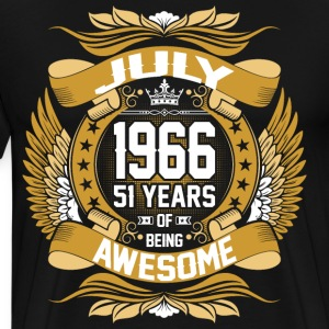July 1966 51 Years Of Being Awesome T-Shirts - Men's Premium T-Shirt