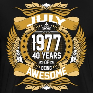 July 1977 40 Years Of Being Awesome T-Shirts - Men's Premium T-Shirt