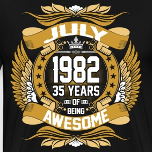 July 1982 35 Years Of Being Awesome T-Shirts - Men's Premium T-Shirt
