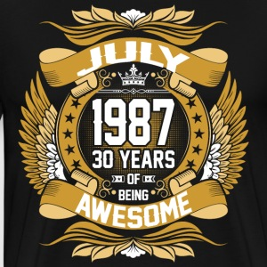 July 1987 30 Years Of Being Awesome T-Shirts - Men's Premium T-Shirt