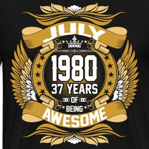 July 1980 37 Years Of Being Awesome T-Shirts - Men's Premium T-Shirt