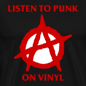 Listen to Punk on Vinyl - Men's Premium T-Shirt