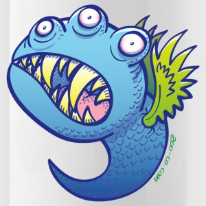 Winged little blue monster Sportswear - Water Bottle
