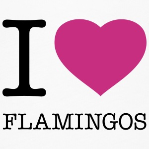 I LOVE FLAMINGOS - Women's Flowy T-Shirt