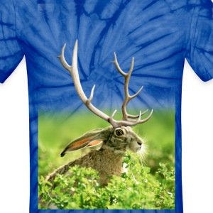 Black-Tailed Jack-a-Lope - Unisex Tie Dye T-Shirt