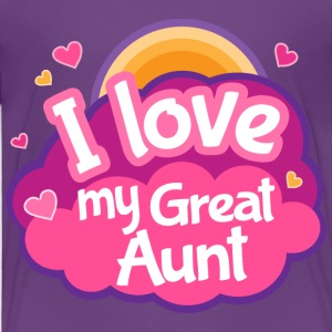 Great Aunt I Love Gift Baby & Toddler Shirts - Toddler Premium T-Shirt
