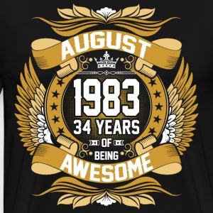 August 1983 34 Years Of Being Awesome T-Shirts - Men's Premium T-Shirt