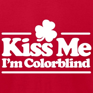 Kiss me I'm colorblind - St. Patricksday Irish T-Shirts - Men's T-Shirt by American Apparel