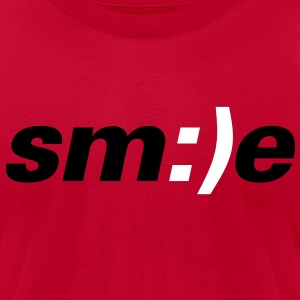smile - Men's T-Shirt by American Apparel