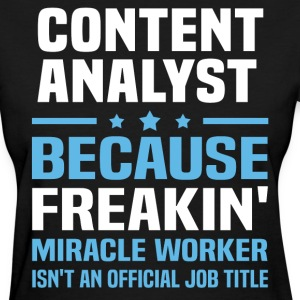 Content Analyst - Women's T-Shirt