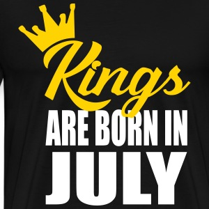 kings are born in jully T-Shirts - Men's Premium T-Shirt