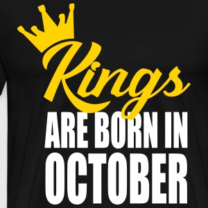 kings are born in October T-Shirts - Men's Premium T-Shirt