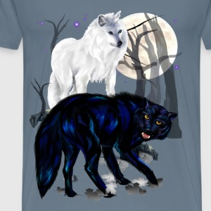 Two Wolves - Men's Premium T-Shirt