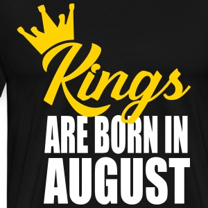 kings are born in august T-Shirts - Men's Premium T-Shirt