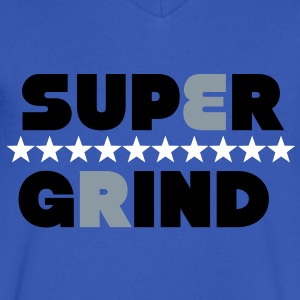 Super Grind T-Shirts - Men's V-Neck T-Shirt by Canvas