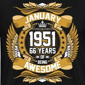 January 1951 66 Years Of Being Awesome T-Shirts - Men's Premium T-Shirt