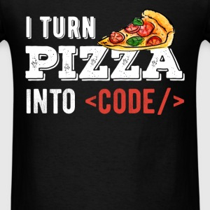 Developer - I turn pizza into code - Men's T-Shirt