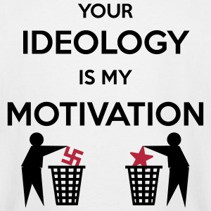 Ideology vs. Motivation T-Shirts - Men's Tall T-Shirt