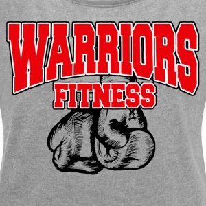 Warriors Fitness Women roll up sleeves - Women´s Rolled Sleeve Boxy T-Shirt