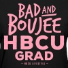 Bad and Boujee HBCU Grad - Women's Pink and Purple Tee - Women's T-Shirt