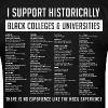 Historically Black Colleges and Universities (HBCUs Listed on Back) - Men's T-Shirt