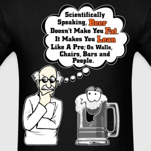Beer Makes You Fat Science Analysis Mens T-Shirt - Men's T-Shirt