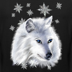WHITE SNOW WOLF  - Men's Premium Tank