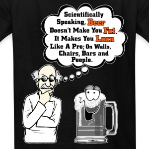 Beer Makes You Fat Science Analysis Kids T-Shirt - Kids' T-Shirt