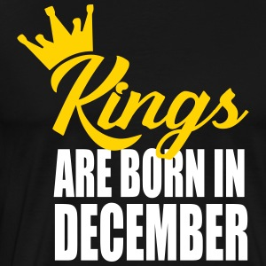 kings are born in decembe T-Shirts - Men's Premium T-Shirt