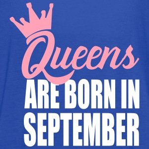 queens are born in sempte Tanks - Women's Flowy Tank Top by Bella