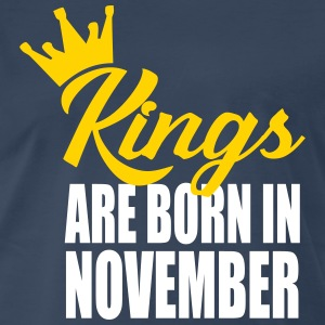 kings are born in novembe T-Shirts - Men's Premium T-Shirt