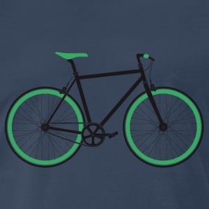 Singlespeed black-green - Men's Premium T-Shirt