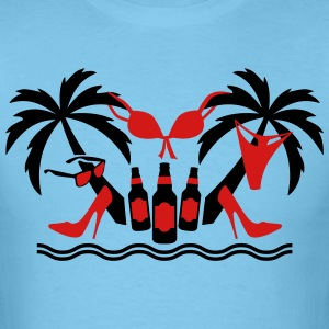 21 Palm Trees Island beach party funny T-Shirt - Men's T-Shirt