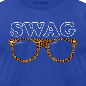 swag leopard glasses T-Shirts - Men's T-Shirt by American Apparel
