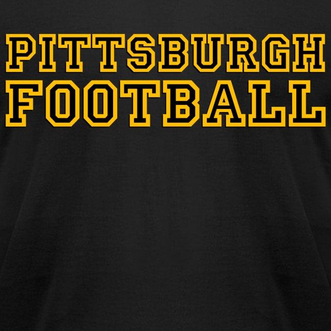 Pittsburgh Football Mens American Black