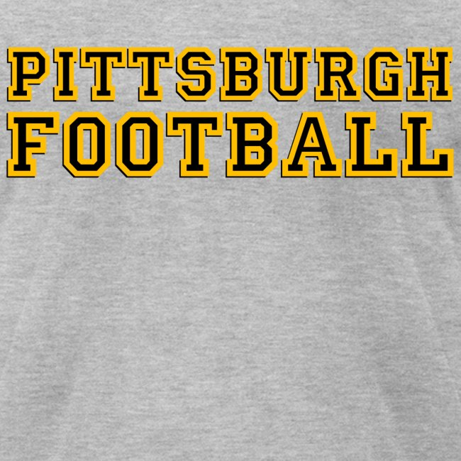 Pittsburgh Football Mens American Grey