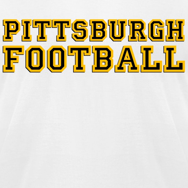 Pittsburgh Football Mens American White